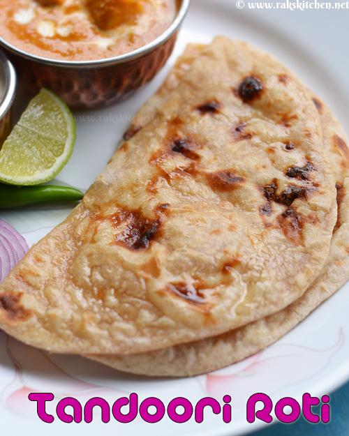 Tandoori roti recipe, tandoori style roti in tawa