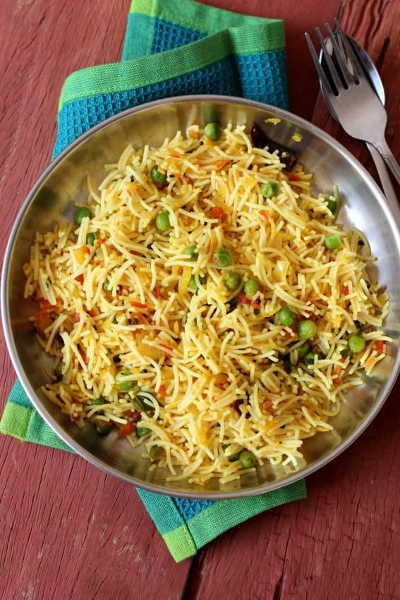 Masala sevai recipe with instant rice noodles