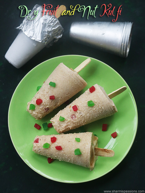 Dry fruits kulfi recipe, Dry fruit and nut kulfi recipe