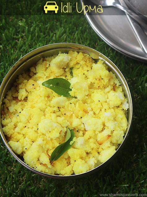 Travel recipes idea 25 – Idli upma