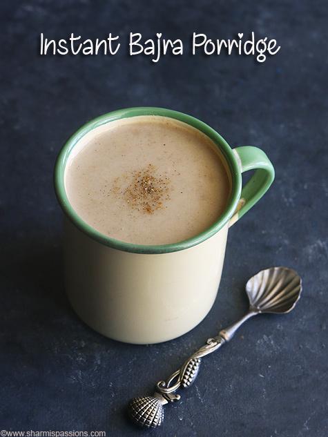 Instant bajra sweet porridge recipe, Kambu kanji recipe