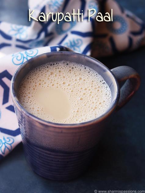 Karupatti paal recipe, Palm jaggery milk recipe