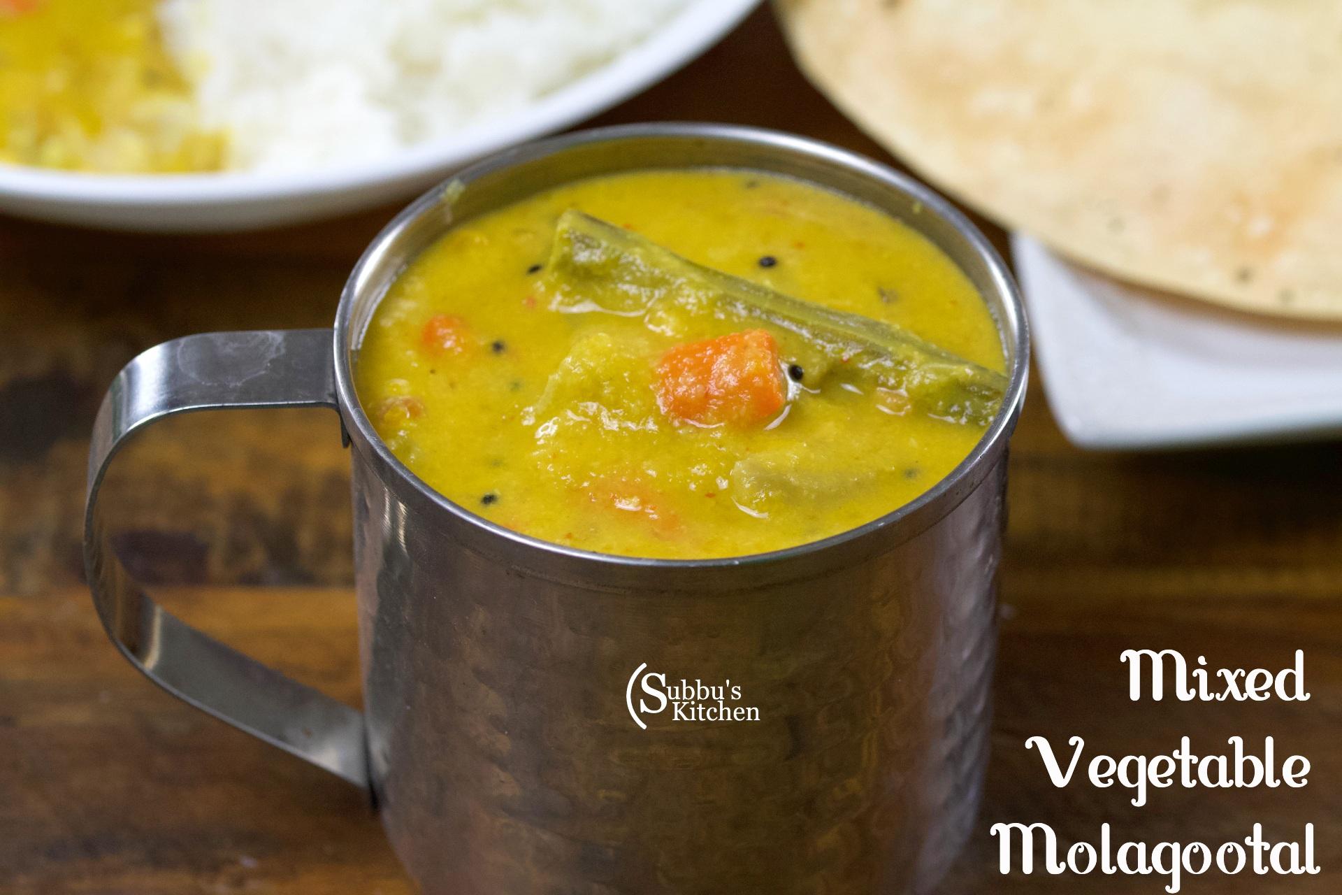 Molagootal Recipe   Mixed Vegetable Molagootal Recipe