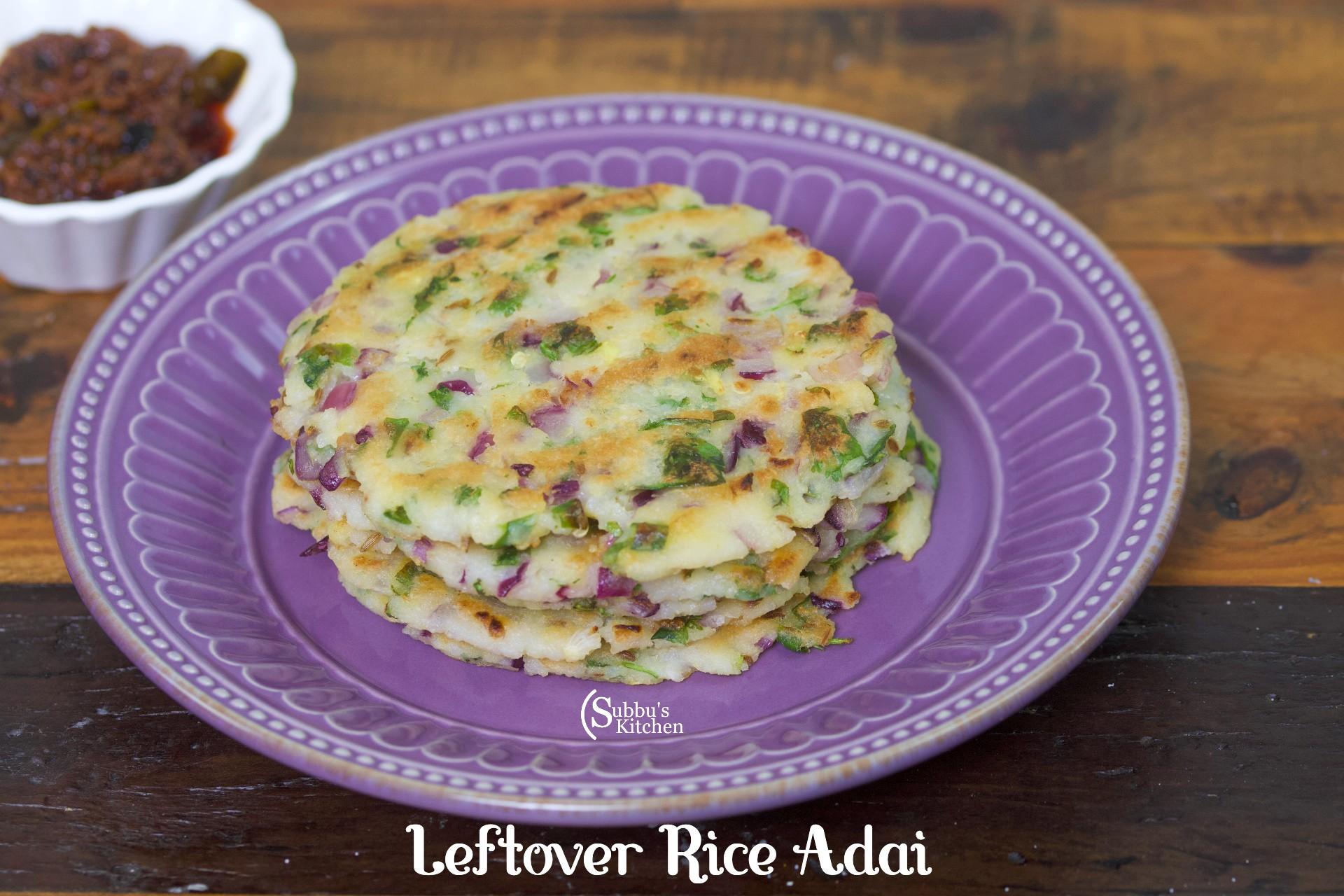 Leftover Rice Adai   Adai with Leftover Rice   Crispy Rice Patties