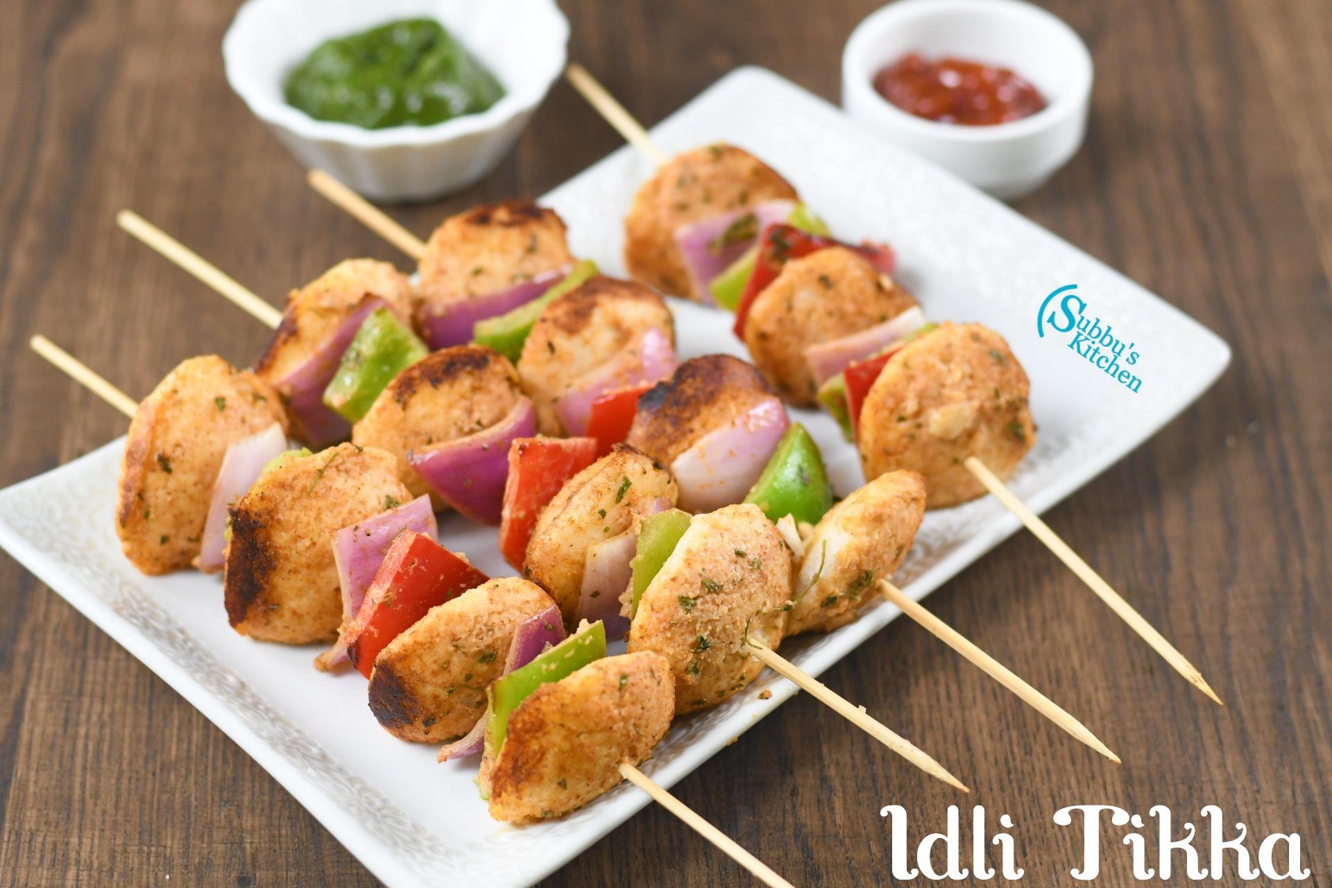 Idli Tikka Recipe | Kid's Friendly Snack with Left over Idli