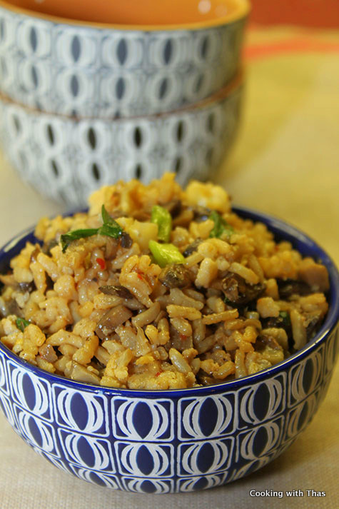 Brown Rice Stir Fry with Vegetables