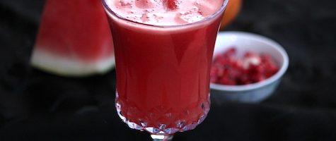 Watermelon Mocktail- Watermelon Pomegranate Orange Juice
