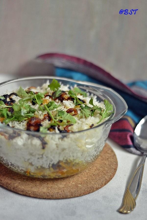 Dejaaj Tahat ~ Emirati Chicken Rice