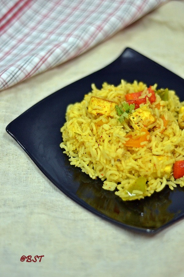 Paneer Capsicum Rice