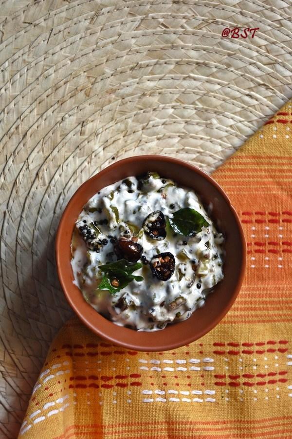 Vendakka Kichadi ~ Okra in Yogurt Sauce