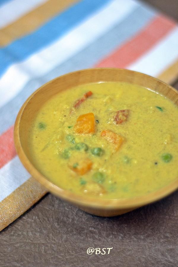 Pachakkari Kurma | Mixed Vegetable Kuruma