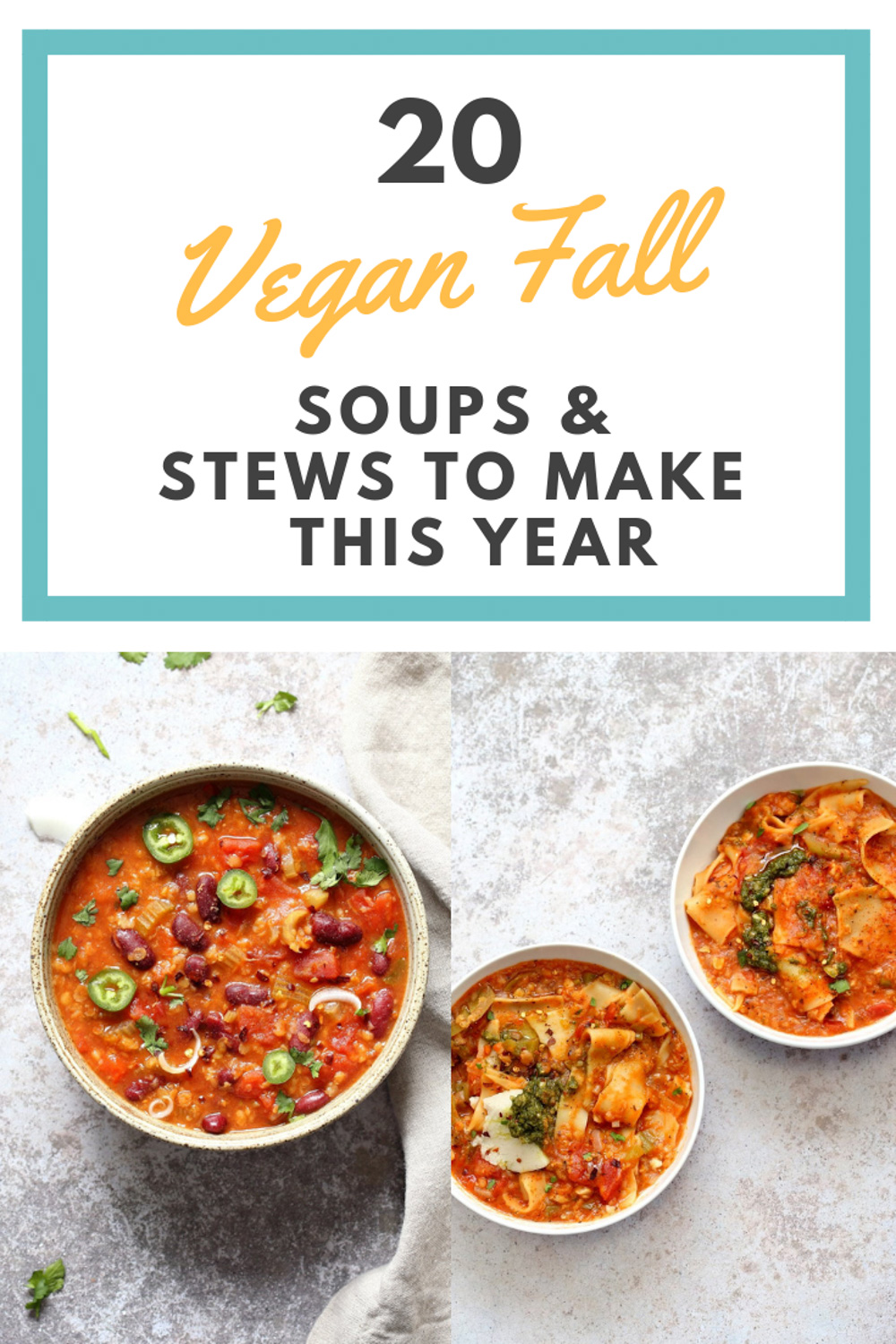 20 Vegan Fall Soups and Stews to Warm You Up