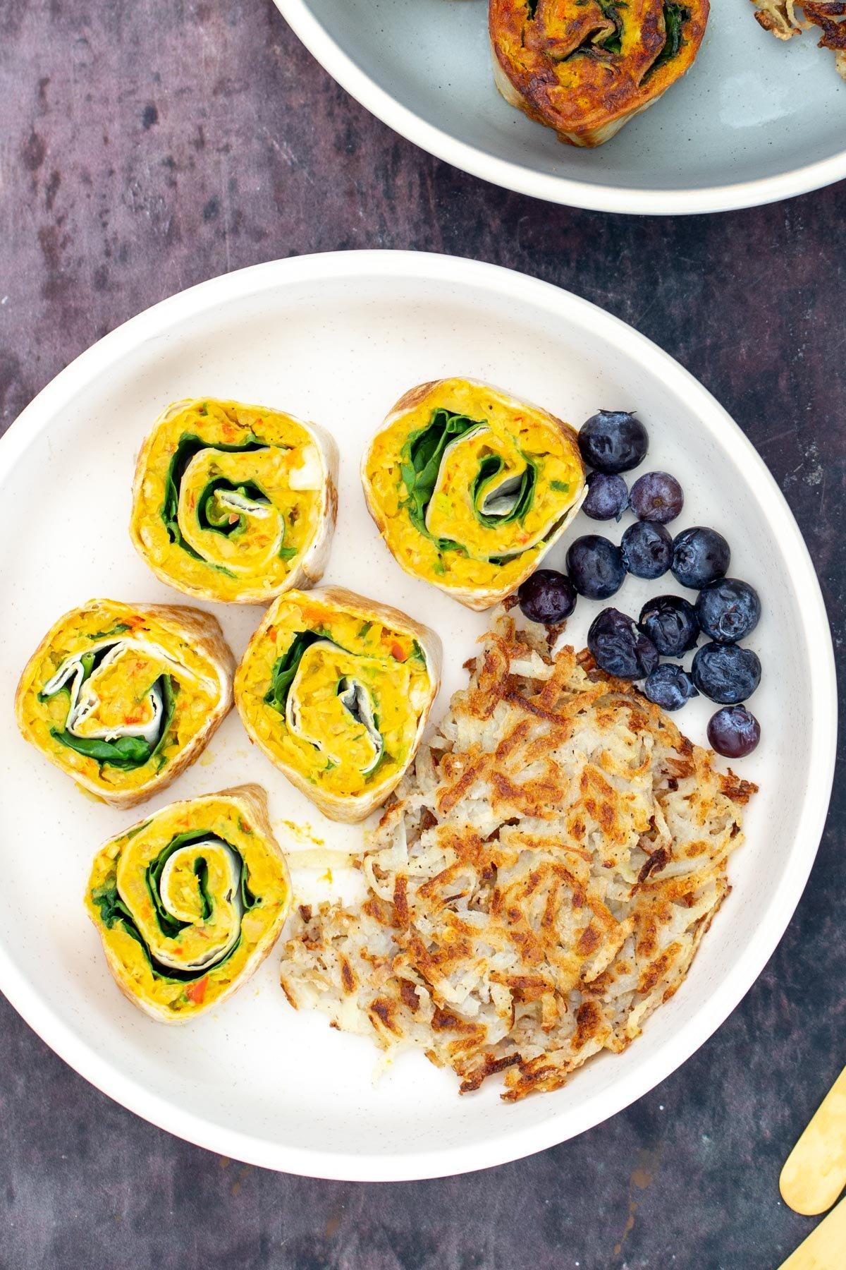 Vegan Chickpea Breakfast Pinwheels