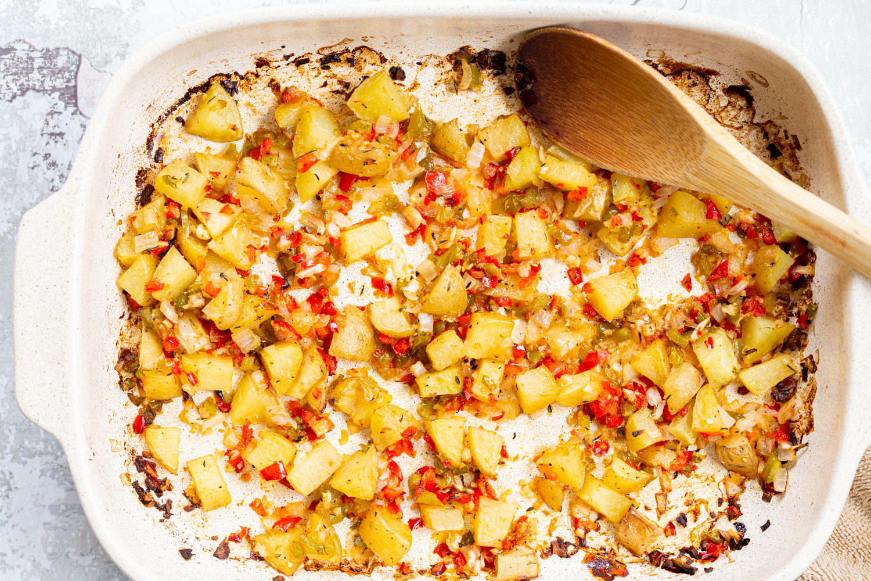 Easy Roasted Breakfast Potatoes (Vegan)
