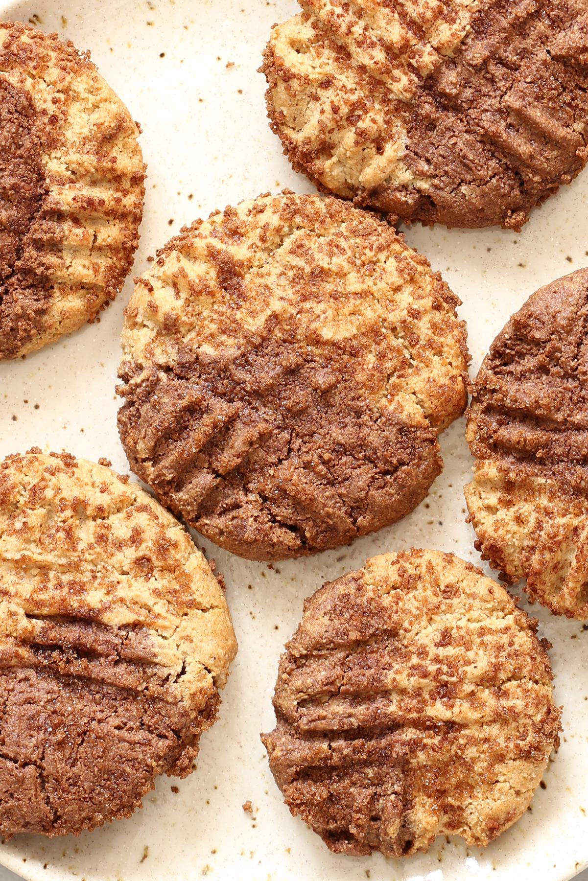 Vegan Chocolate and Pumpkin Pie Spice Snickerdoodles (Glutenfree)
