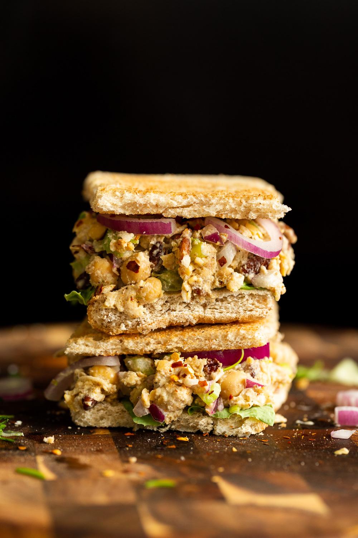 Chickpea Tahini Salad Sandwich