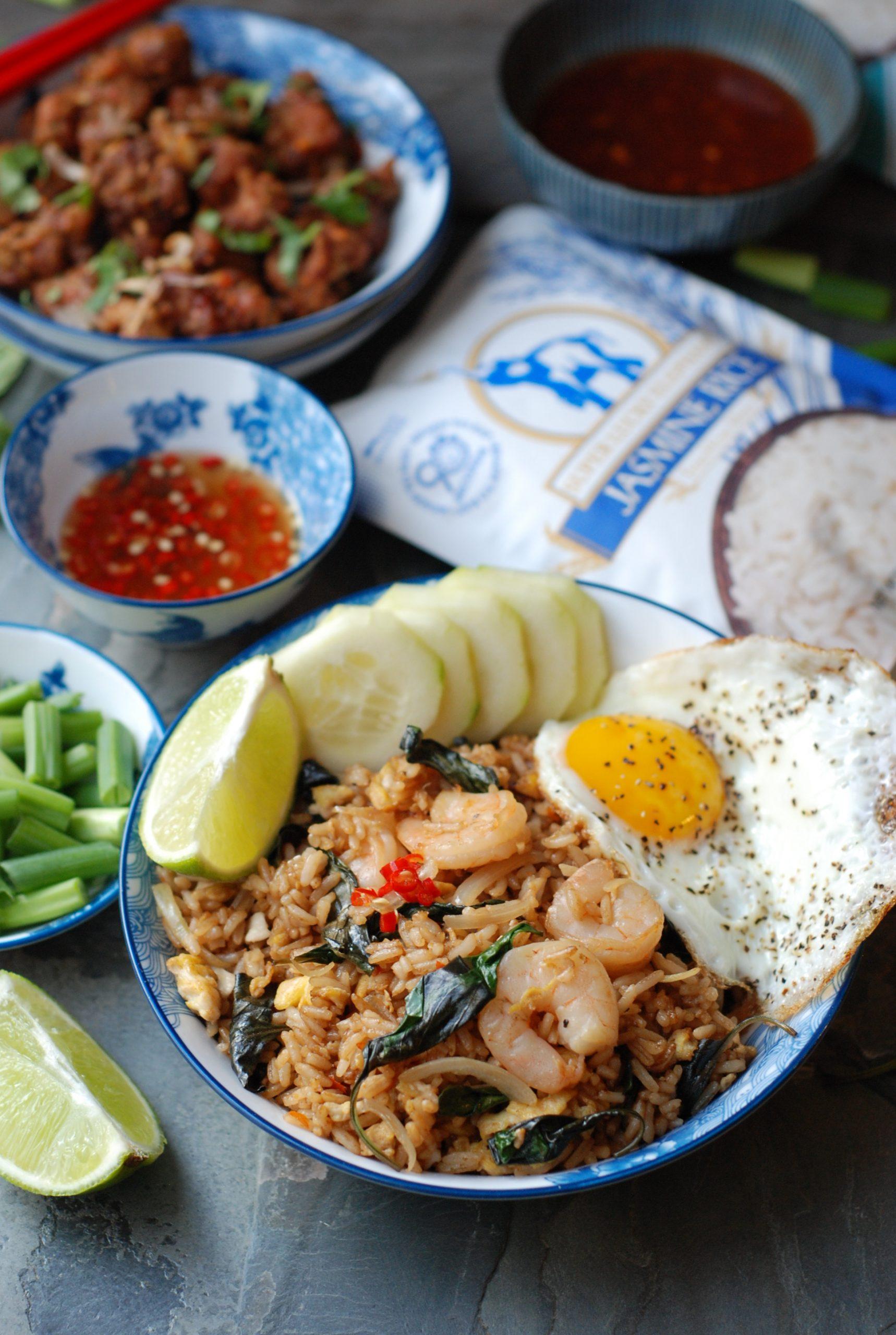 Thai Basil Shrimp Fried Rice